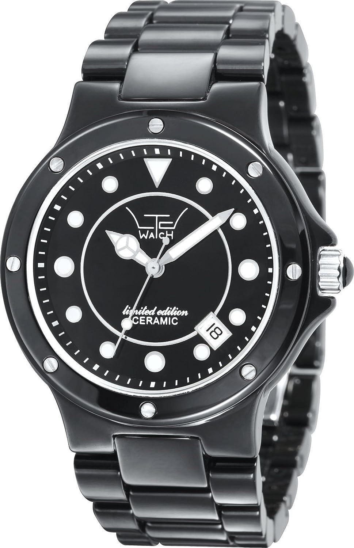 LTD WATCH Unisex-Armbanduhr Analog Keramik schwarz 31601