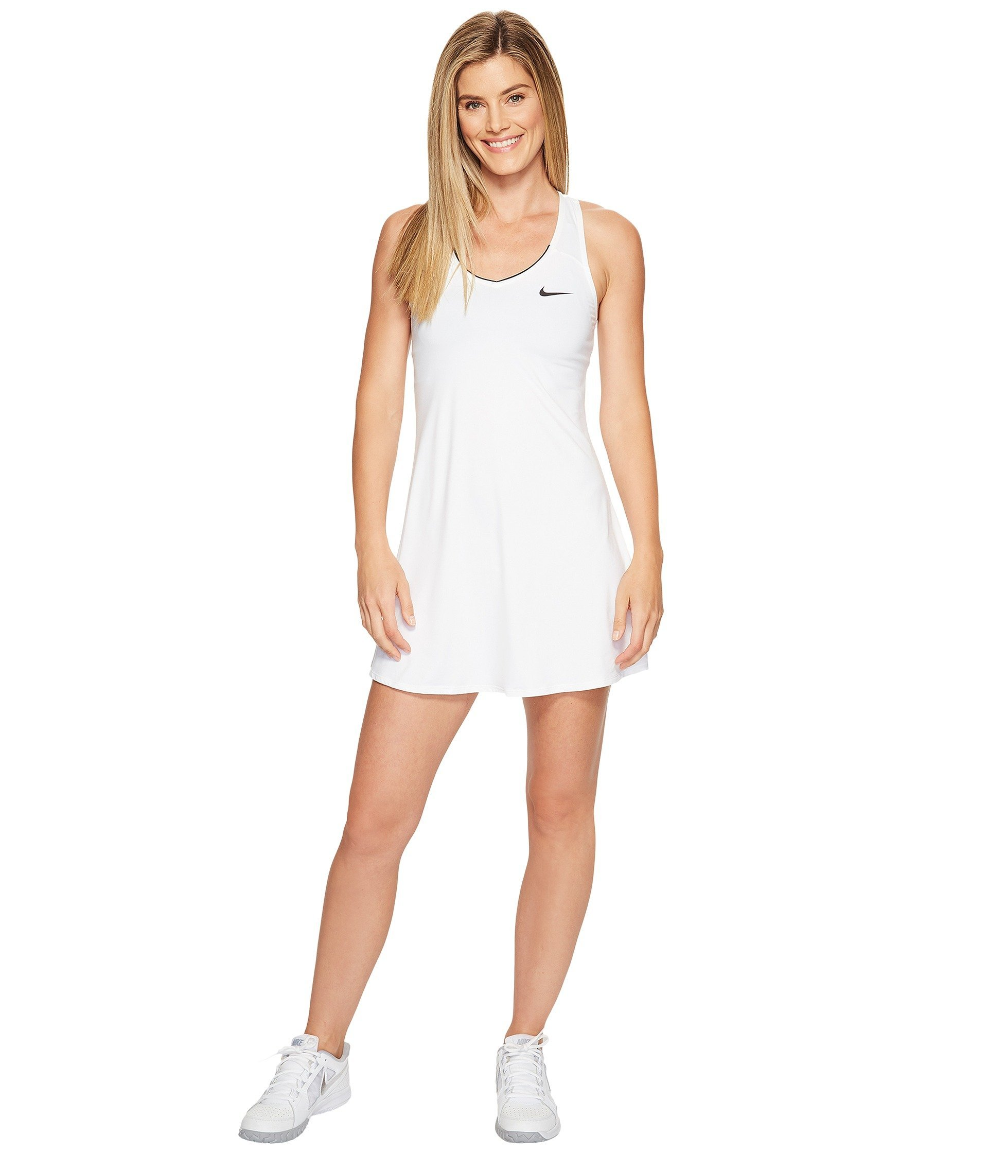 Nike Court Racerback Pure Tennis Dress (White, Medium)