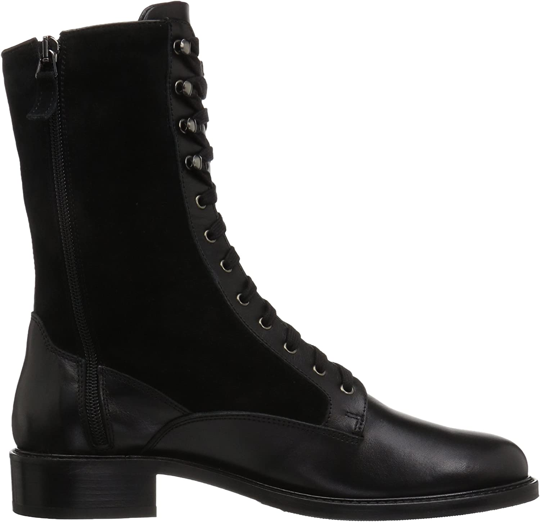 Brynn Calf/Suede Ankle Boot, Black