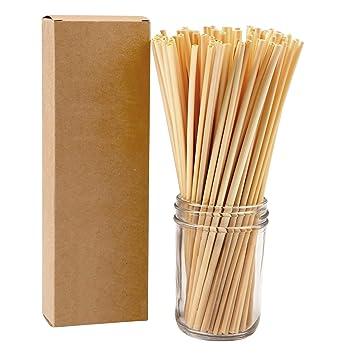 Aneco Pajitas de trigo compostables naturales orgánicas ...