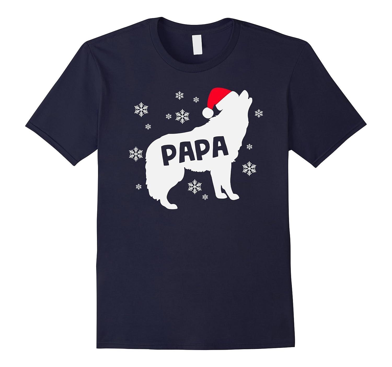 Christmas Papa Wolf Holiday Shirt Mama Family Pack of Wolves-AZP