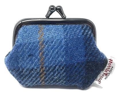 Harris Tweed - Monedero con Cierre de Mosquetón, Color Azul ...