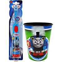 Thomas Electric Toothbrush Set: 2 Items - Powered Toothbrush, Kids Character Rinse Cup