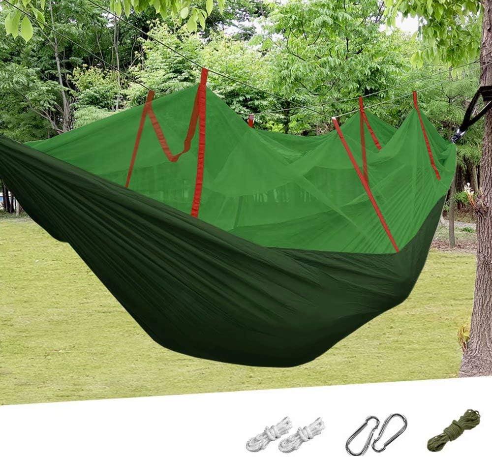 ZLL-hammock Hamaca para Acampar Hamaca portátil Ligera para 2 Personas con mosquitera para Actividades al Aire Libre, Camping, mochilero, Senderismo