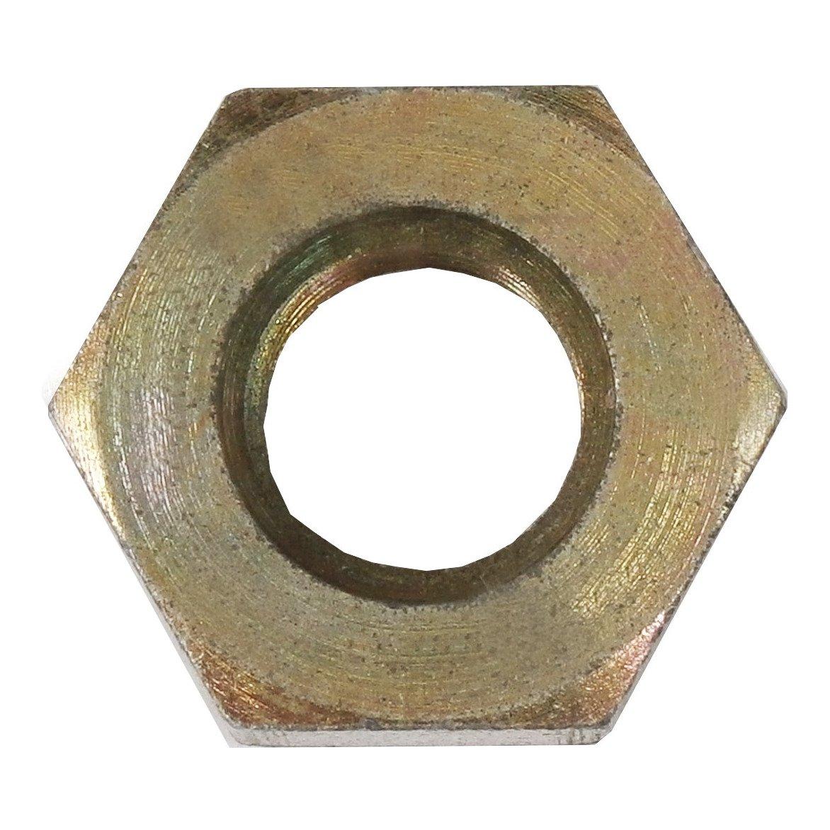 0.220 Width 3//8-24 Thread 0.625 Hex Brennan Industries 0306-03 Steel Bulkhead Lock Nut 3//16 Tube OD