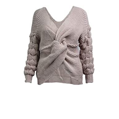 383a0d6fb Miss Trendy Women Bobble Knit Sleeve Wrap Front Ladies High Street ...