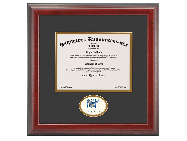 16 x 16 Signature Announcements Coppin-State-University Undergraduate Sculpted Foil Seal Graduation Diploma Frame Cherry