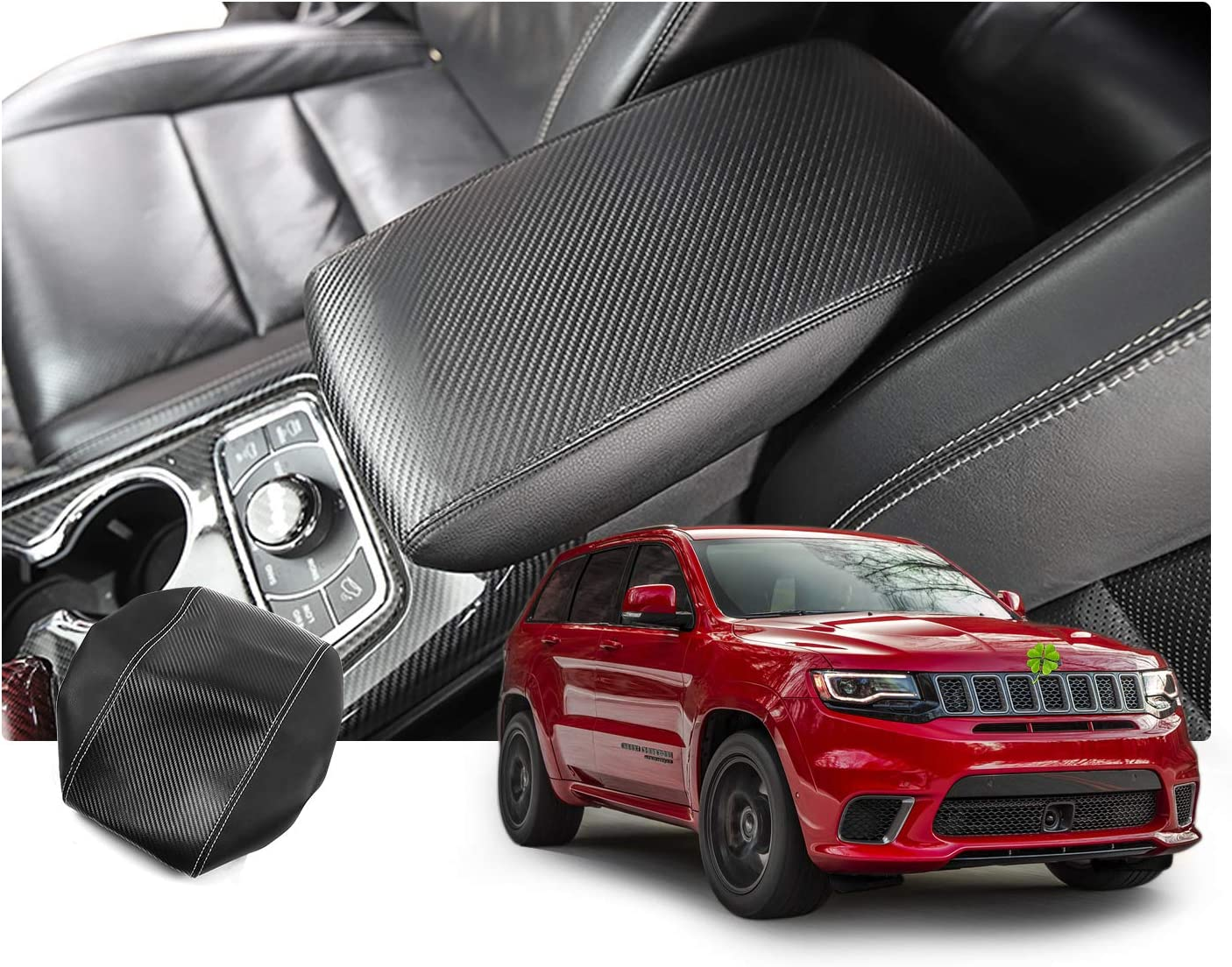 JeCar Gear Shifter Storage Box Manual Transmission Side Storage Tray Interior Accessories for 2011-2019 Jeep Grand Cherokee WK2 Black