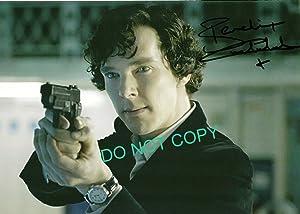 Benedict Cumberbatch Sherlock Holmes reprint signed photo #1 RP