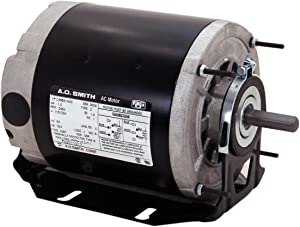 A.O. Smith RB2024 1/4 hp, 1725 RPM, 115 volts, 48 Frame, ODP, Ball Bearing Belt Drive Blower Motor