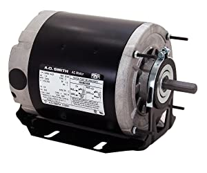 A.O. Smith RB2034 1/3 hp, 1725 RPM, 115 volts, 48 Frame, ODP, Ball Bearing Belt Drive Blower Motor