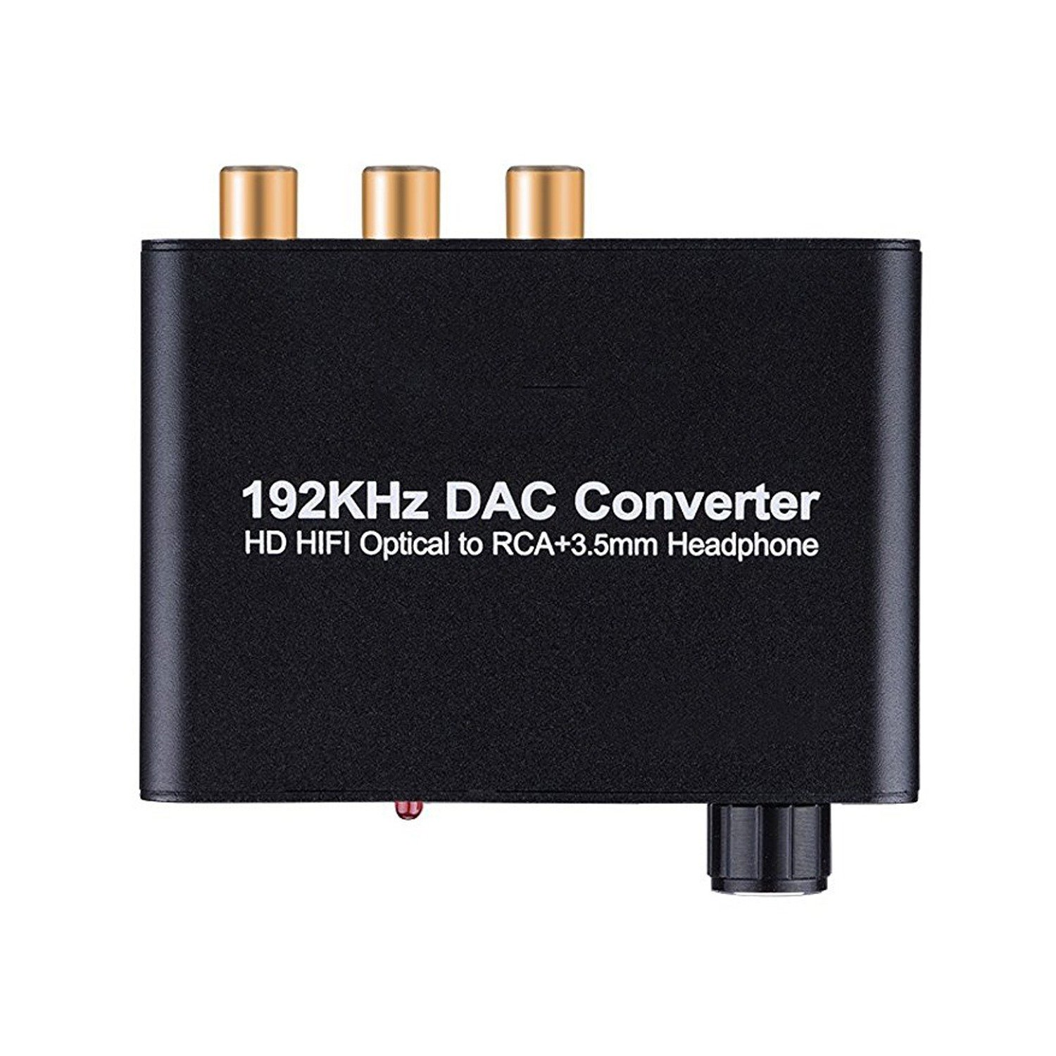 SODIAL Digital to Analog Converter 192kHz DAC Supports Volume control Digital Coaxial SPDIF to Analog Stereo L/R RCA 3.5mm Jack Audio Adapter for PS3 XBox PS4 Cinema Systems AV Amps by SODIAL