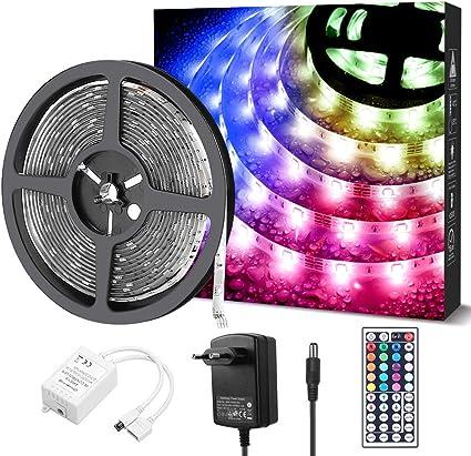 1-10M LED Stripe RGB Leiste Streifen 5050 Band Wasserdicht Lichterkette Netzteil