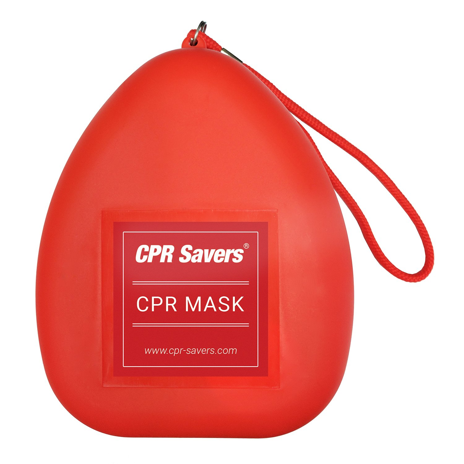 CPR Savers, Adult/Child Pocket Resuscitator, Hard Case with Wrist Strap (RED) CPR Savers - CPRS-401R