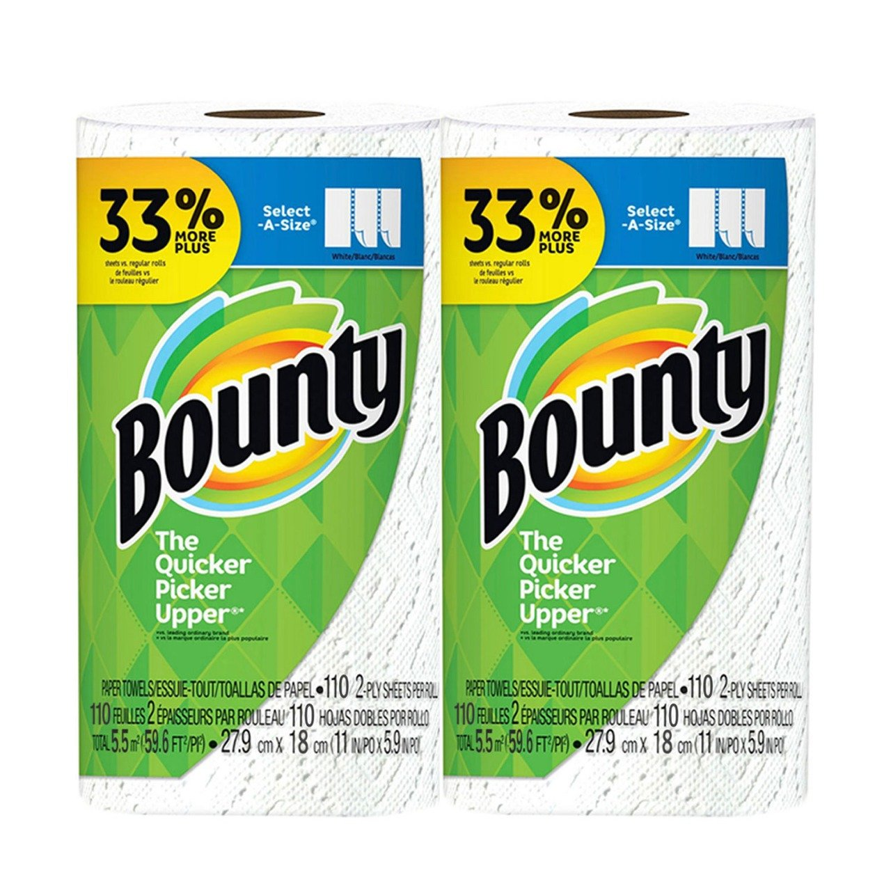 Amazon.com : Bounty Advanced Select A-size, 11 X 7.1 Inch, White, 220 Pound : Beauty
