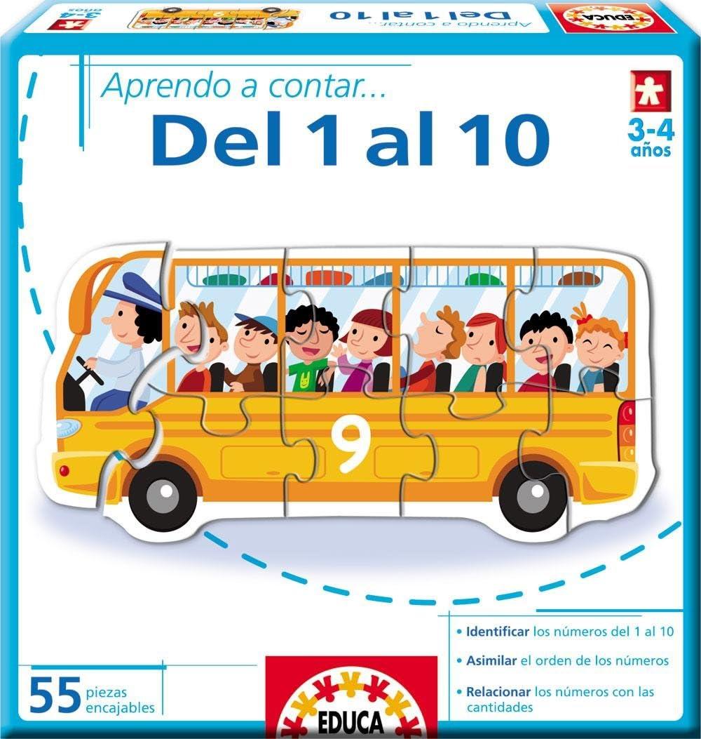 Educa Borrás - Aprendo A Contar... del 1 Al 10 (14233): Amazon.es: Juguetes y juegos