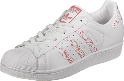 adidas Superstar W, Chaussures de Fitness Femme, Multicolore-Blanc/Rose (Ftwbla