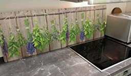 myspotti moderner spritzschutz motiv herbs kr uter. Black Bedroom Furniture Sets. Home Design Ideas