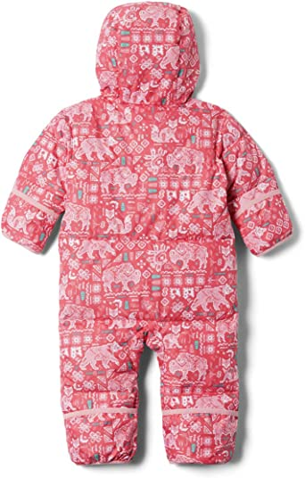 Columbia Infant Snuggly Bunny Bunting 6//12 Water Repellent White Typo Print Down Filled