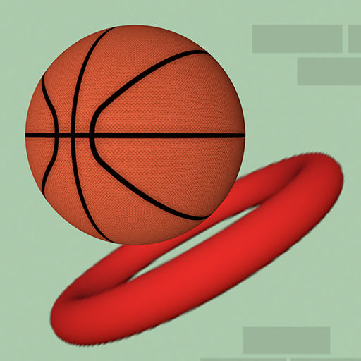 Dunk The Hoops -Bouncy Flappy Ball -  Best Free Basketball Arcade Game  - Flappy Slam Dunk Basketball!