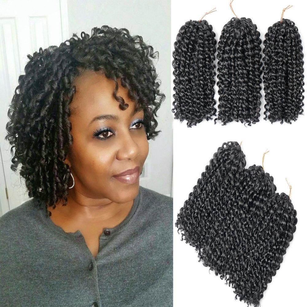 Befunny 6bundles Lot 6 Marlybob Crochet Hair Short Jerry Curly Crochet Braids Deep Twists Wavy