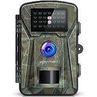 apeman Caméra de Chasse 12 MP 1080P avec Vision Nocturne Infrarouge jusqu'à 65 pieds/20 m IP66 Spray étanche pour la Nature de Plein air Jardin, Surveillance de la Maison