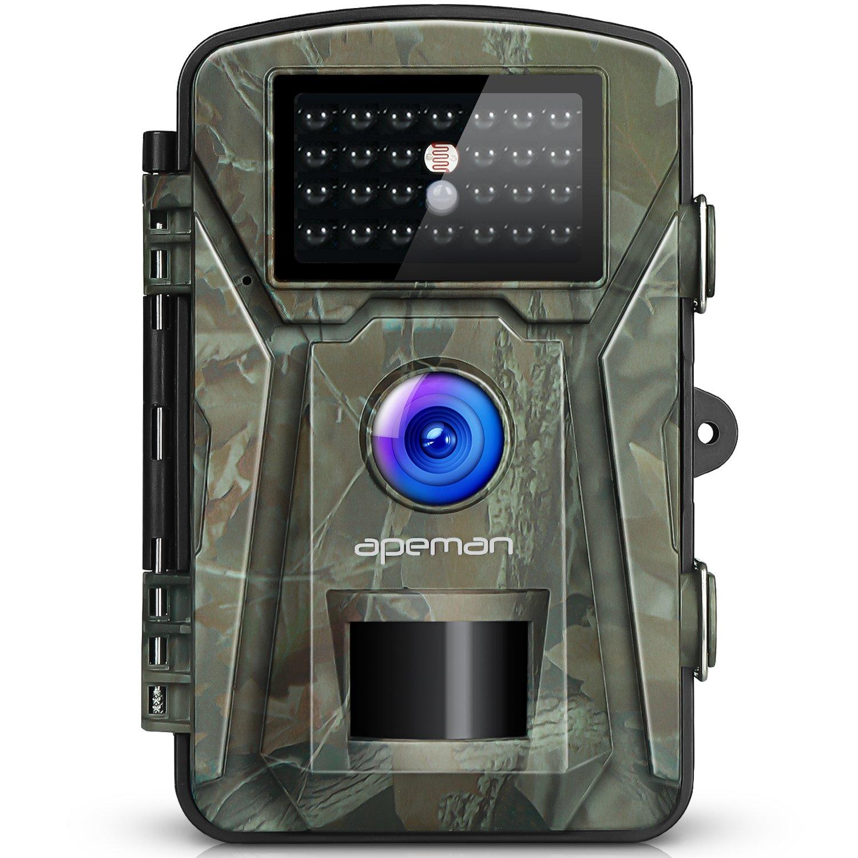 apeman Caméra de Chasse 12MP 1080P avec 26 Capteurs Infrarouges LED de 940nm. Portée en Mode Vision de Nuit de 65pieds / 20 Mètres Étanchéité à la Norme IP66 Camera Chasse Infrarouge (White)