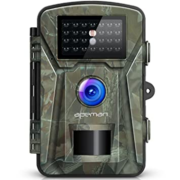 APEMAN Trail Camera Hunting Game Camera with Infrared Night Version, 2.4 inch LCD Screen, PIR Sensors, IP66 Spray Water Protected design Trail & Game Cameras at amazon