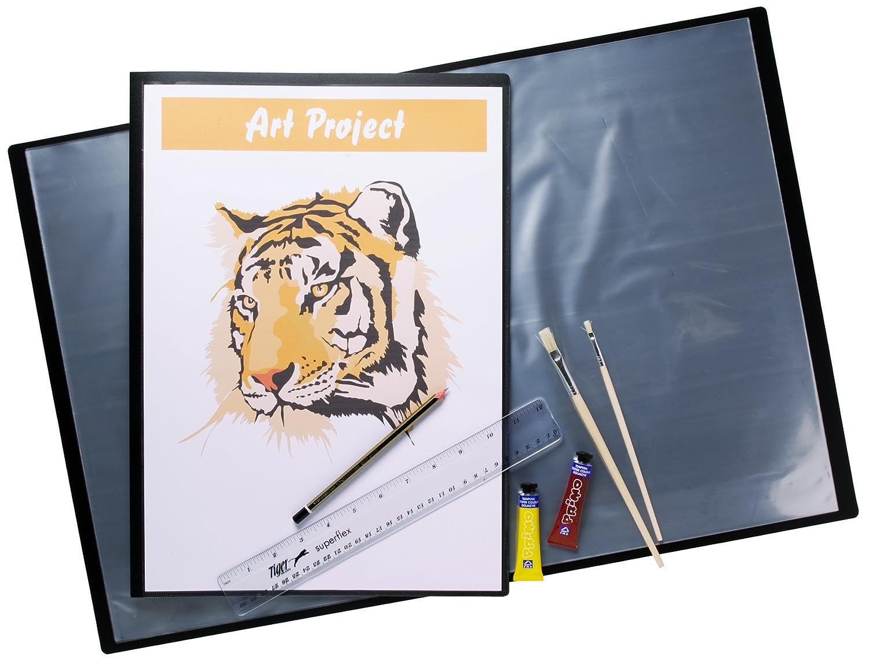 4 x A3 color negro cubierta - carpeta de presentación - cubierta 40 Pkt 2569ba