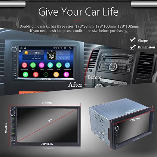 JOYING 7 Car Stereo with 2GB RAM, Android 5 1, Intel Quad Core, Touch  Screen, In Dash Radio, Auto GPS Navigation, Bluetooth