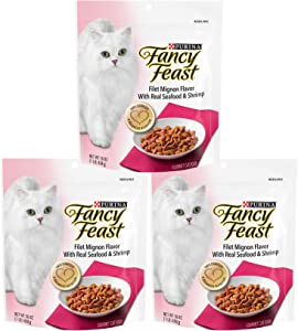 Fancy Feast Gourmet Dry Cat Food - Filet Mignon Flavor with Real Seafood & Shrimp - 3 Pack (3 Pounds Total)
