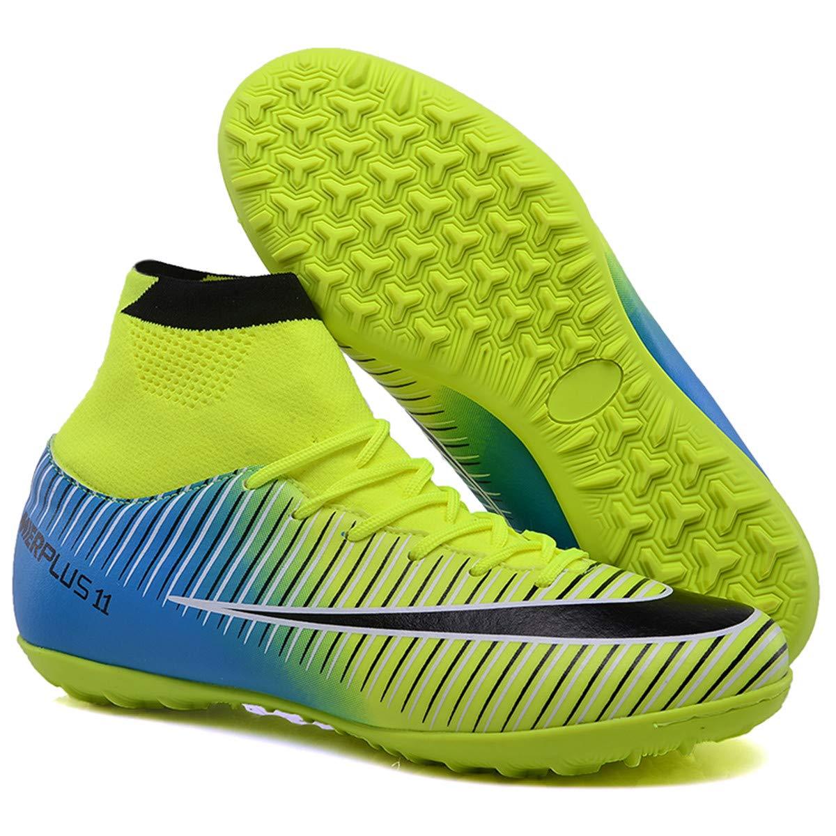 3b22524086892 LSGEGO Botas de fútbol para Hombres Zapatos de fútbol con Tacones ...