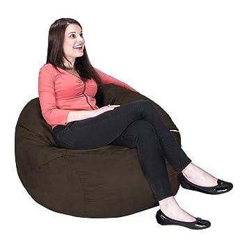 Incroyable Jaxx Saxx 3u0027 Bean Bag Chair, Chocolate