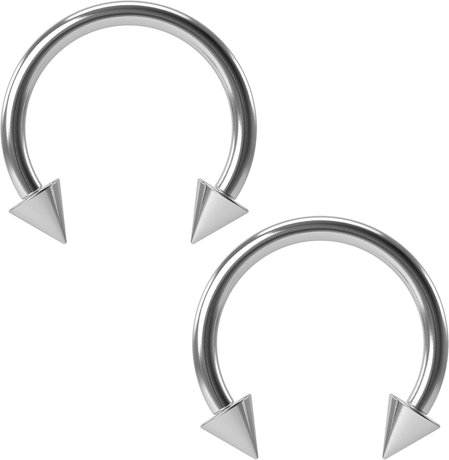 2pc 16g Clear Acrylic Retainer Circular Barbell Horseshoe Conch Auricle Gauge Ring Piercing Jewelry