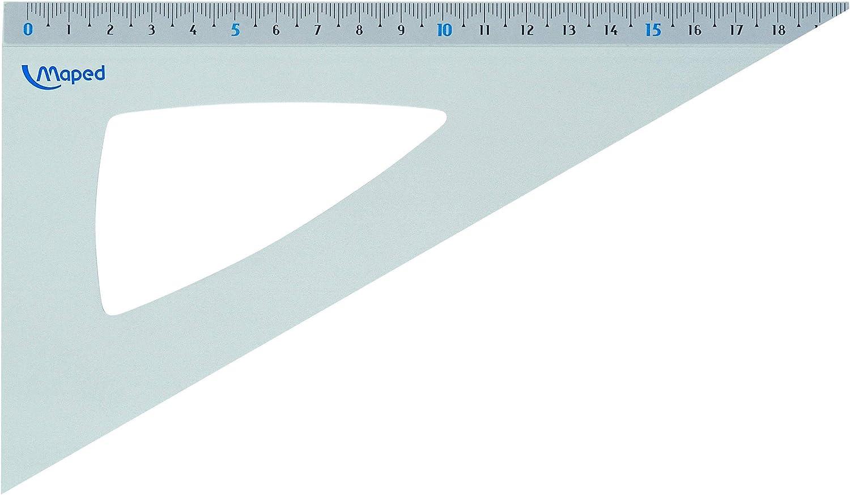 Reglas de geometr/ía 1 unidad gris Maped M120621