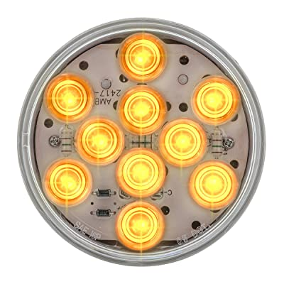 "Grand General 77451 Amber 4"" LED Sealed Light with Clear Lens (Mega 10): Automotive"