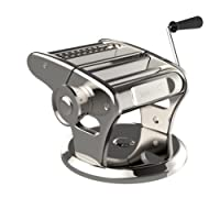bonVIVO Pasta Mia Stainless Steel Pasta Machine With Chrome Finish And Innovative Suction Base, For The Pleasure Of Italian-Style Pasta From Your Own Kitchen