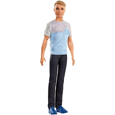 Barbie Dreamhouse Adventures Ken Doll, Approx. 12-Inch, in Gray-Blue Shirt and Black Pants, Gift for 3 to 7 Year Olds: Toys & Games