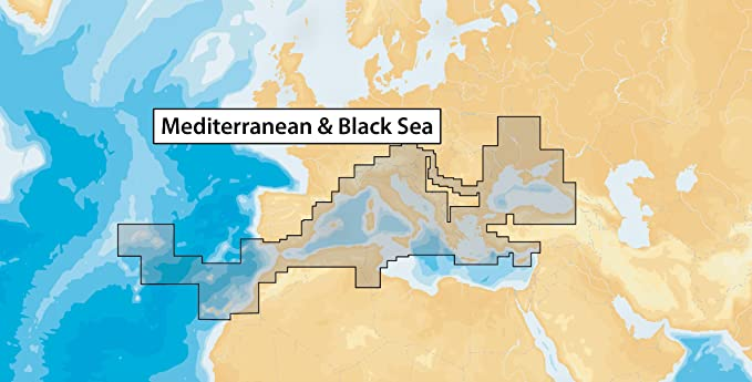 Navionics MicroSD - Carta náutica, zona 43XG Mar Mediterraneo y ...