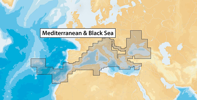 Mediterranean NAVIONICS PLUS CHART 43XG MSD CARD WITH SD ADAPTER