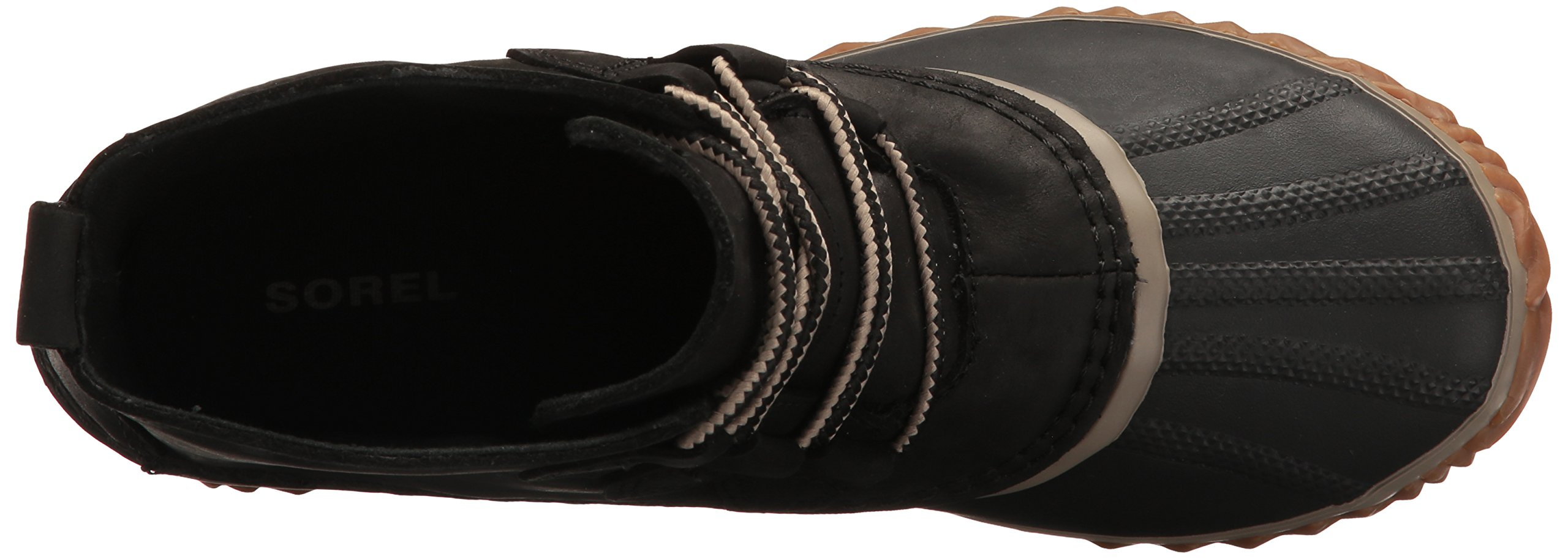 SOREL Women's Out N About Leather Rain Snow Boot, Black, 7.5 M US by SOREL (Image #9)