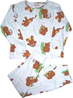Coolwear Girls Leopard 2-pc Pajama Set J.J Leopard Slipper Size:4 ONLY