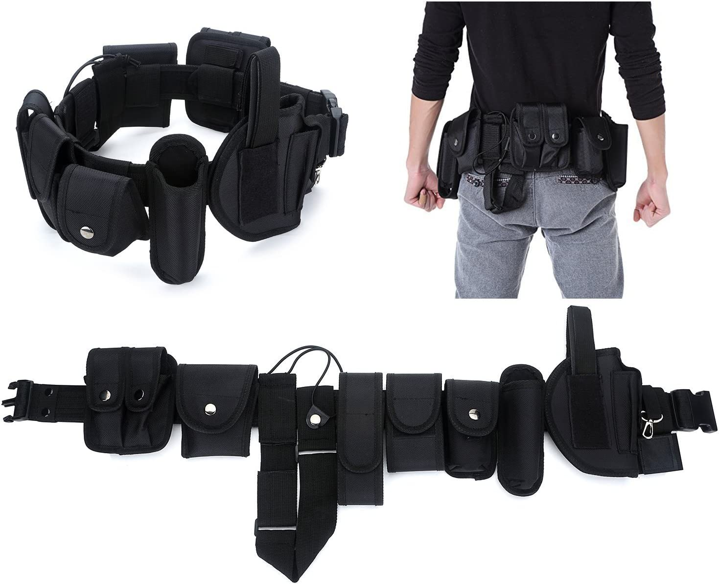 YAHILL® Cinturón Táctico de Utilidad, Seguro Equipo por Policía Yaplicación de la Ley, Equipo de Nylón para Trabajo Pesado Combate & Oficial, o Estuche de Esposas