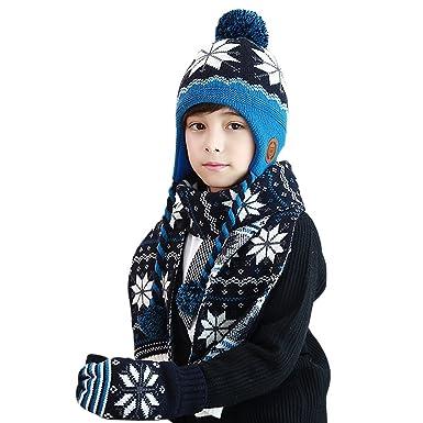 Amazon Com Mimixiong Boys Girls Hat Scarf Gloves Sets Autumn