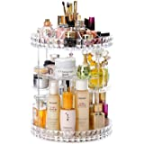 HOSEN Acrylic Rotation Makeup Organizer,Perfume and Skincare Organizer, Dresser Cosmetic Storage, Spinning Bathroom Make Up H