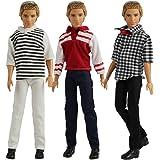 3 Vêtements pour Poupée Ken - fiancé de Barbie