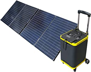 ExpertPower Alpha1900 Rechargeable Solar Powered Station Combo| 1900Wh Portable Generator and TWO FREE 100Watt Glass Monocrystalline Solar panel