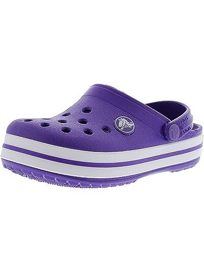 308133a52818 Crocs Kids Crocband Clog Ltd Ultraviolet White Clogs - 2M