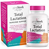 Pink Stork Total Lactation: Breastfeeding Support for Mom + Baby with Fenugreek, Supports Breast Milk Supply, Flow, + Taste,