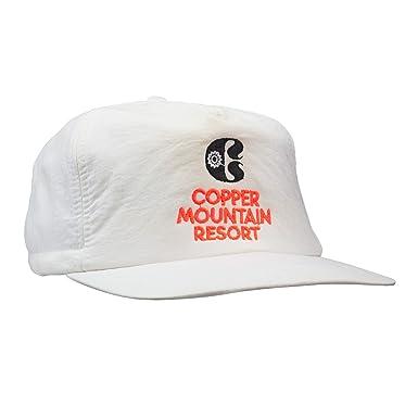 Amazon.com  Copper Mountain Scrunch Back White Hat - 100% Authentic ... 9b9c1c349b6